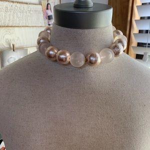 💛 Gorgeous Large Beaded Choker Style Necklace